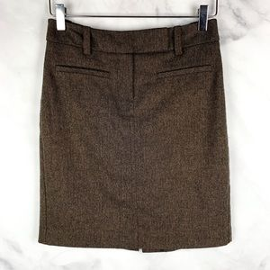Trina Turk Wool Tweed Pencil Skirt Lace Career 0